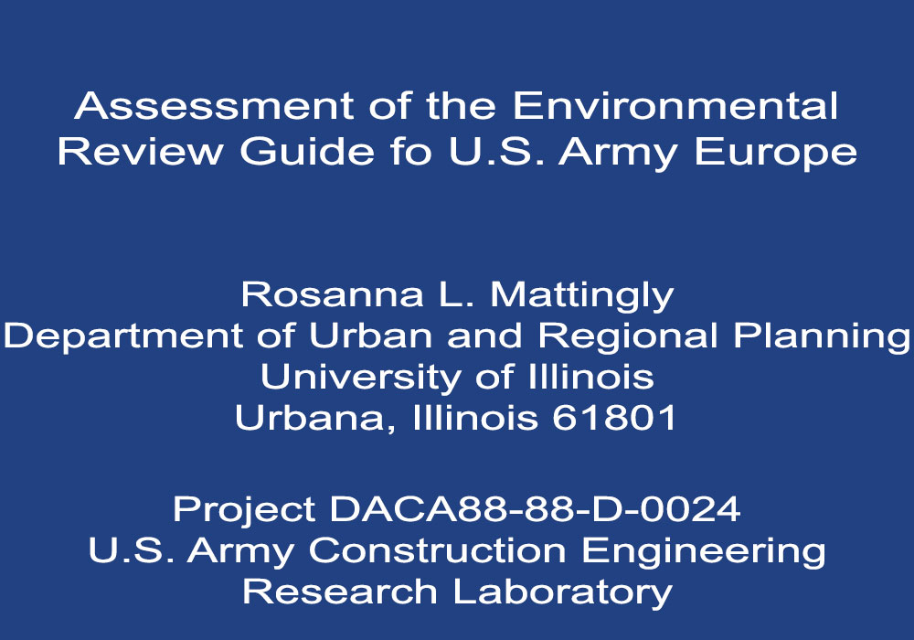 Assessment of Environmental Review Guide