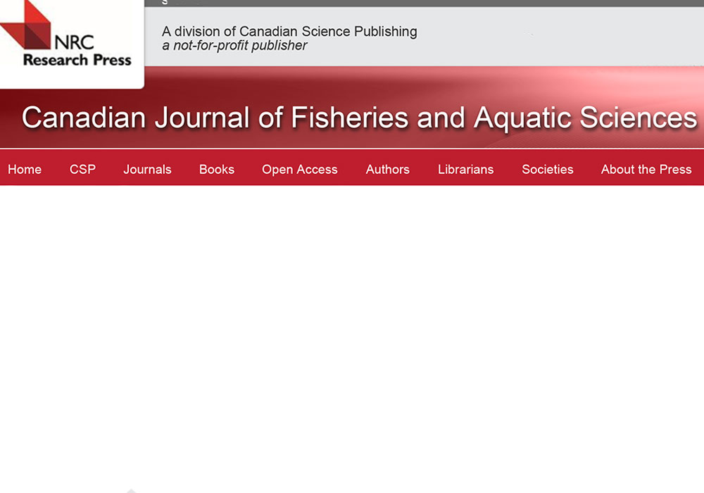 Canadian Journal of Fisheries and Aquatic Sciences Editing