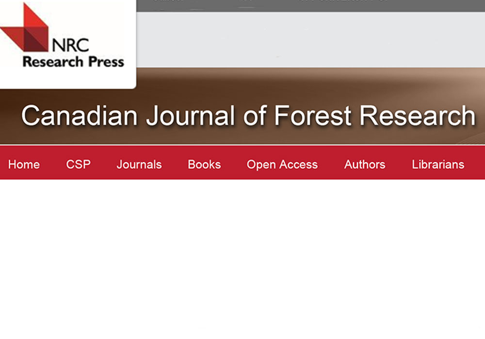 Canadian Journal of Forest Research Editing