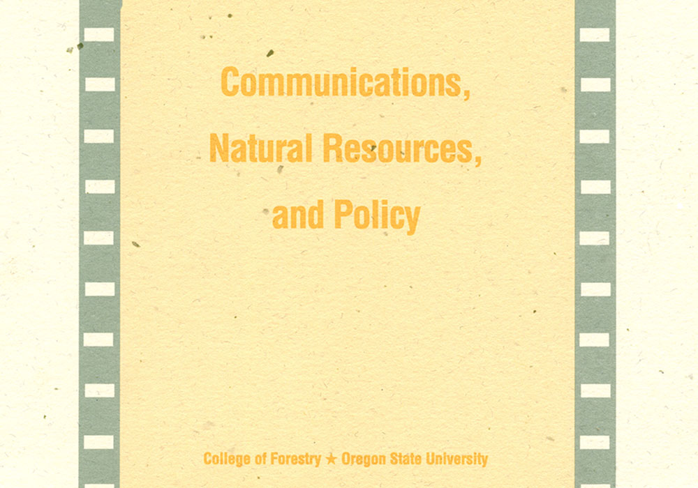 Communications, Natural Resources, and Policy Lecture Series