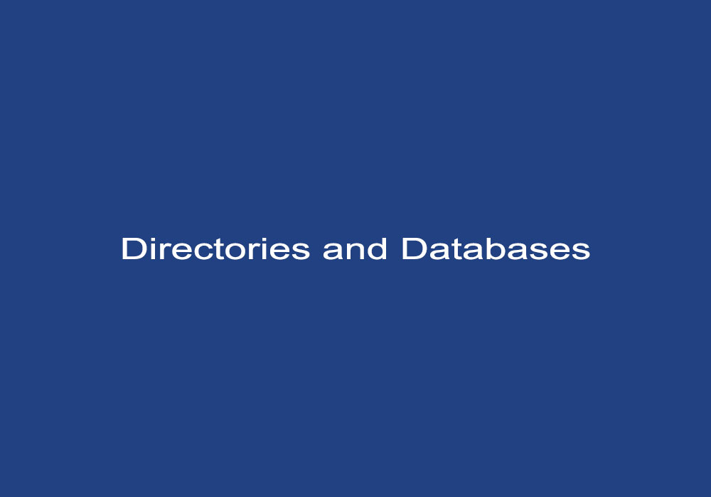 Directories and Databases